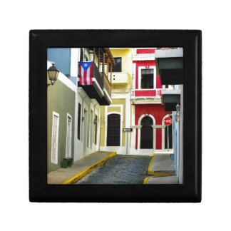 the color of old San Juan Puerto Rico Trinket Boxes