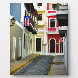 the color of old San Juan Puerto Rico Plaque