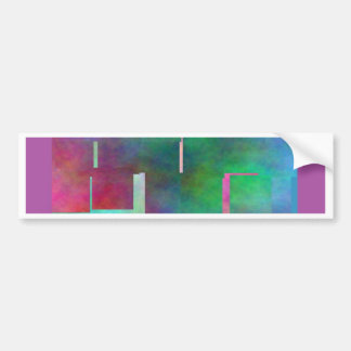 The Color Rainbow Digital Art Abstract Bumper Stickers