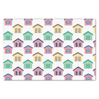 The Colorful Beach Houses Tissue Paper