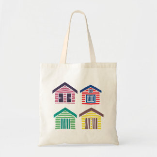 The Colorful Beach Houses Tote Bag