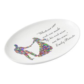 The Colorful Couple Porcelain Serving Platter