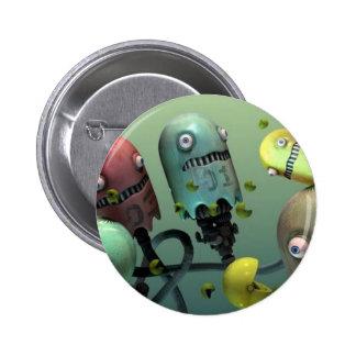 the colorful robots button