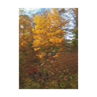 The Colors of Autumn in Oil Paint Style Gallery Wrapped Canvas