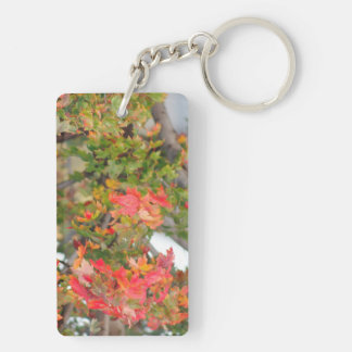 The Colors Of Fall Double-Sided Rectangular Acrylic Key Ring