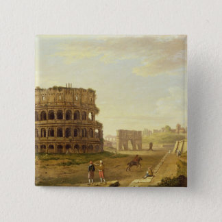 The Colosseum, 1776 (oil on canvas) 15 Cm Square Badge