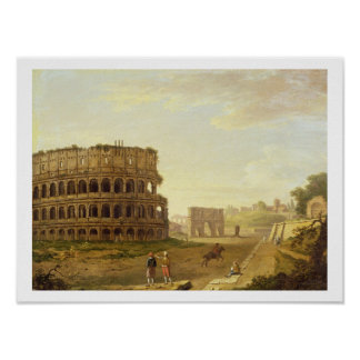 The Colosseum, 1776 (oil on canvas) Poster