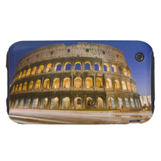 the Colosseum ampitheatre illuminated at night 2 iPhone 3 Tough Covers