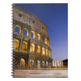 the Colosseum ampitheatre illuminated at night Notebooks