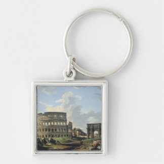 The Colosseum and the Arch of Constantine Keychains