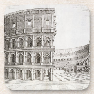 The Colosseum, built in AD 80 (engraving) Beverage Coasters