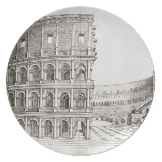 The Colosseum, built in AD 80 (engraving) Plate