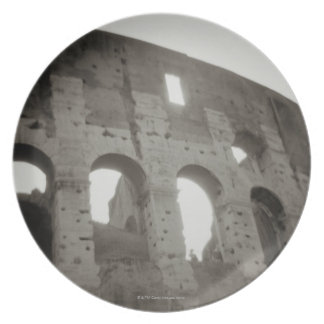 The colosseum in Rome, Italy Plate