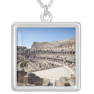 The Colosseum is situated in Rome, Italy. Its an 3 Silver Plated Necklace