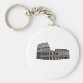 The Colosseum of Rome: 3D Model: Basic Round Button Key Ring