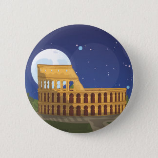 The Colosseum Of Rome 6 Cm Round Badge