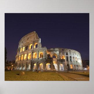 The Colosseum or Roman Coliseum, originally the Poster