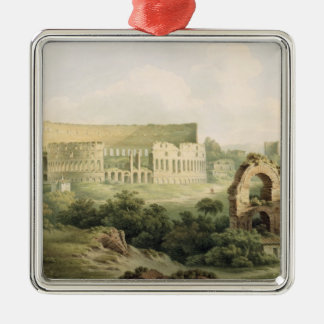 The Colosseum, Rome, 1802 (w/c over graphite on wo Christmas Ornament