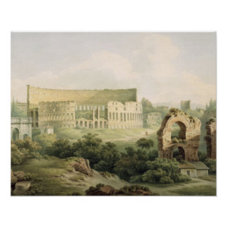 The Colosseum, Rome, 1802 (w/c over graphite on wo Poster