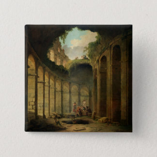 The Colosseum, Rome (oil on canvas) 15 Cm Square Badge