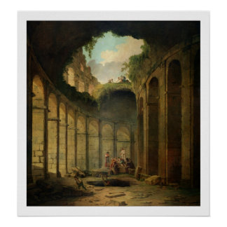 The Colosseum, Rome (oil on canvas) Poster