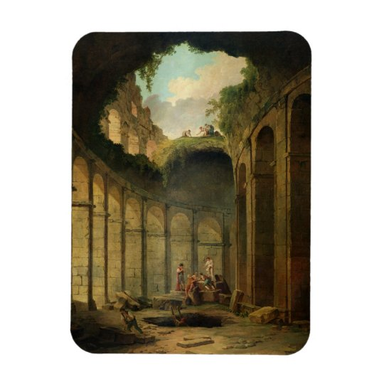 The Colosseum, Rome (oil on canvas) Rectangular Photo Magnet