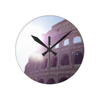 The Colosseum (Rome) Round Clock