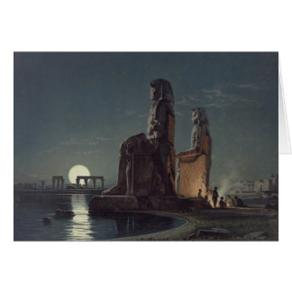 The Colossi of Memnon, Thebes, one of 24 illustrat Card