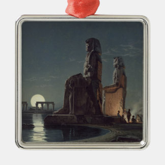 The Colossi of Memnon, Thebes, one of 24 illustrat Christmas Ornament