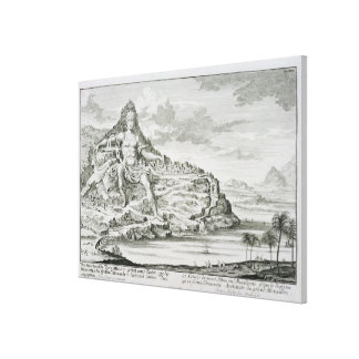 The Colossus of Mount Athos, Macedonia, a design b Stretched Canvas Prints