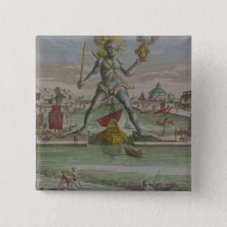 The Colossus of Rhodes, detail of the statue strad 15 Cm Square Badge