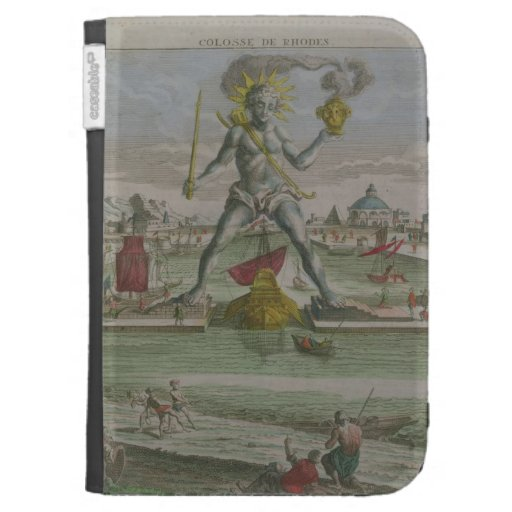 The Colossus of Rhodes, detail of the statue strad Kindle Cover