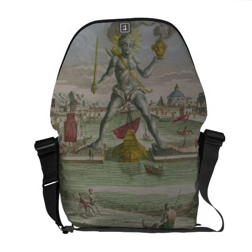 The Colossus of Rhodes, detail of the statue strad Messenger Bag
