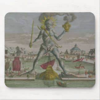 The Colossus of Rhodes, detail of the statue strad Mouse Mat