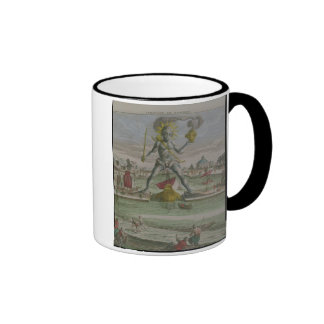 The Colossus of Rhodes, detail of the statue strad Coffee Mugs