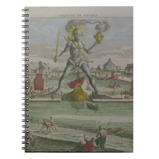The Colossus of Rhodes, detail of the statue strad Journals