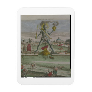 The Colossus of Rhodes, detail of the statue strad Rectangle Magnet