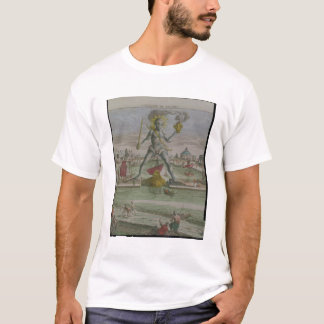 The Colossus of Rhodes, detail of the statue strad T-Shirt