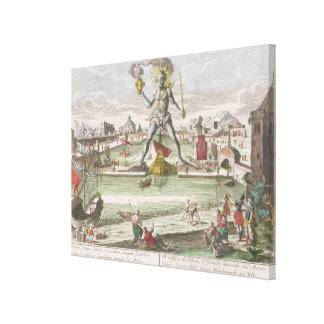 The Colossus of Rhodes, second Wonder of the World Gallery Wrapped Canvas