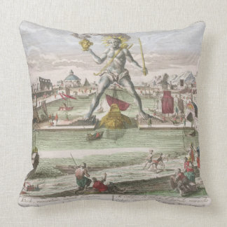 The Colossus of Rhodes, second Wonder of the World Pillows
