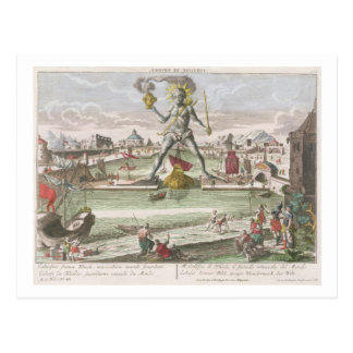 The Colossus of Rhodes, second Wonder of the World Postcard