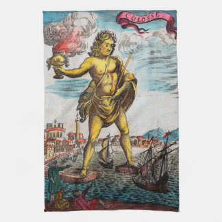 The Colossus Of Rhodes Hand Towels