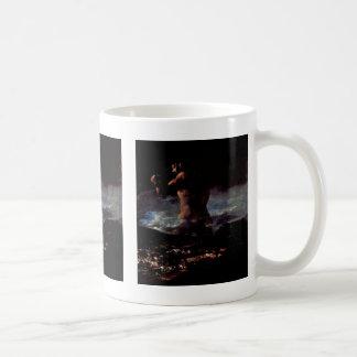"The Colossus (Or Panic "")"" By Francisco De Goya Mug"