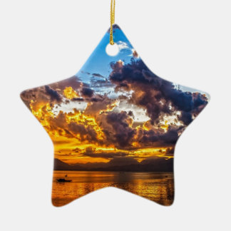 The colour of the sky. christmas ornament