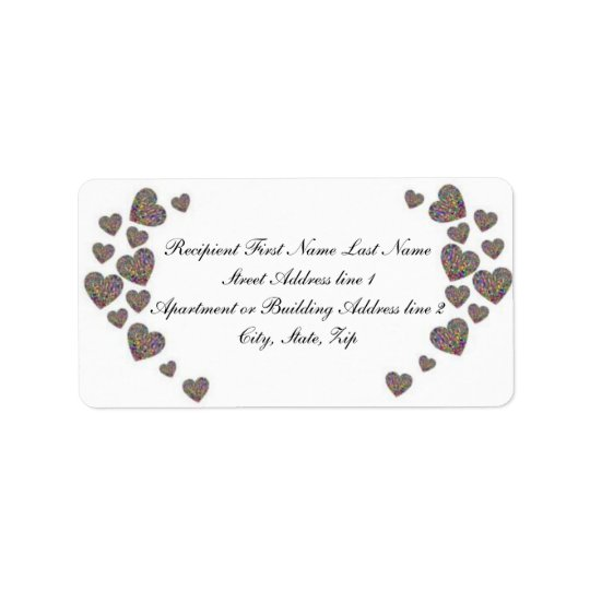 The Colourful Couple Address Label