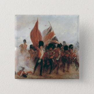 The Colours: advance of the Scots Guards 15 Cm Square Badge