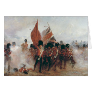 The Colours: advance of the Scots Guards Card