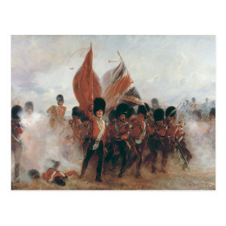 The Colours: advance of the Scots Guards Postcard