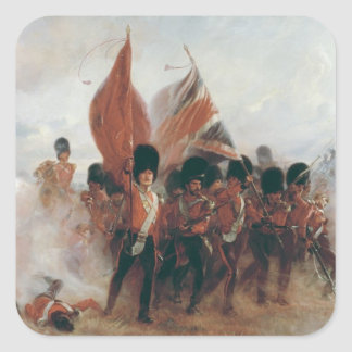 The Colours: advance of the Scots Guards Square Sticker