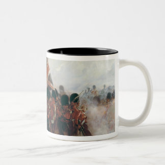 The Colours: advance of the Scots Guards Two-Tone Coffee Mug